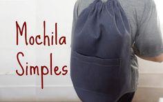 Montanha Azul: MOCHILA SIMPLES - PASSO A PASSO