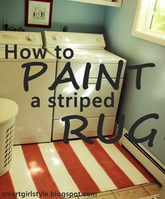 smartgirlstyle: How to Paint a Striped Rug (HoH165)