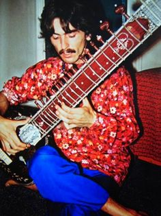 George Harrison and His Sitar