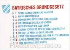 Postkarten | Bayrisches Grundgesetz