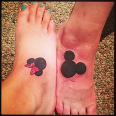 My Minnie Mouse tattoo and my mom's Mickey Mouse tattoo. #motherdaughter #sentimental #tattoo
