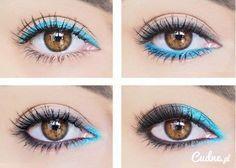 4 sposoby na podkreślenie oka niebieską kreską