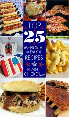 Top 25 Memorial Day Recipes - start planning your party with this delicious list! TONS of great appetizers, main dishes, sides and desserts for your upcoming cookout! #PinkRelief #spons
