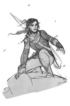 Sketch – Daisy Ridley / Lara Croft by charlestanart on DeviantArt - Geek World Drawing Reference Poses, Drawing Poses, Drawing Sketches, Art Drawings, Female Character Design, Character Drawing, Character Design Inspiration, Lara Croft, Animation