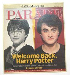 Harry Potter Parade Magazine Newspaper insert May 23 2004 @ niftywarehouse.com