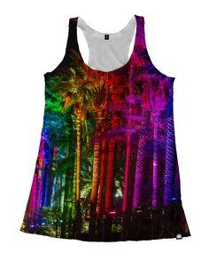 RUKES Rainbow Palms Women's Tank
