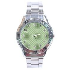 Cute Seamless Tile Pattern Gifts Stainless Steel Men s Watch by creativemom