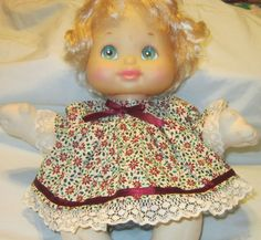"""SALE 15% OFF Christmas Poinsettia Dress set, fits My Child dolls and11"""" Preemie CP dolls"""