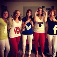 Pin for Later: 30+ Halloween Costumes With the Ultimate Americana Flair Social Media This is perhaps our most present-day representation of American culture. Pair up with friends and DIY t-shirts to signify which app you are!