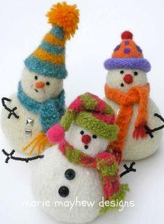 PATTERN A Knit & Felt Wool Snowbaby Pattern by woollysomething, $8.00