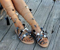 Sandales grecques sandales gladiateur cuir par DimitrasWorkshop