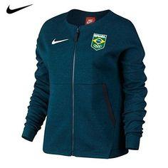 the best attitude 8e91b ac967 Style  Cheer on Team Brazil with the Nike® Women s Team Brazil Tech Fleece  Full Zip Jacket. Best of all, the Nike® Women s Team Brazil Tech Fleece  Full Zip ...