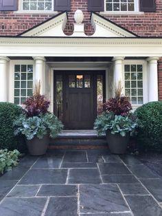Deborah Silver and Co Inc – Page 3 Fall Plants, Green Plants, Tropical Plants, Porch Plants, Green Landscape, Landscape Design, Outdoor Pots, Outdoor Decor, Christmas Urns
