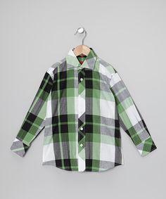 Boys plaid dress shirt