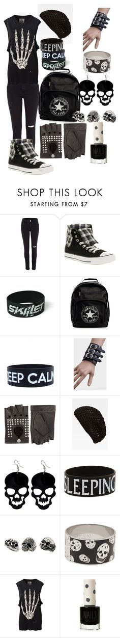 """""""Revel"""" by krazytaco444 ❤ liked on Polyvore featuring River Island, Converse, Friis & Company, Cara Accessories, Topshop, Alexander McQueen and UNIF"""