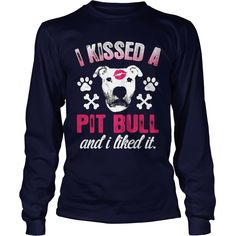 Pit Bull Shirt - I Kiss And I Like It - Black,  Order HERE ==> https://www.sunfrogshirts.com/Pets/114839596-453220677.html?9410,  Please tag & share with your friends who would love it,  #renegadelife #christmasgifts #xmasgifts  #rottweiler dibujo, #rottweiler rottweilers, rottweiler american #rottweiler #family #animals #goat #sheep #dogs #cats #elephant #turtle #pets