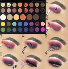 tutorial with james charles x morphe palette - - tutorial with james charles x morphe palette Beauty Makeup Hacks Ideas Wedding Makeup Looks for Women Makeup Tips Prom Makeup ideas Cut Natural Makeup. Makeup Eye Looks, Eye Makeup Steps, Cute Makeup, Smokey Eye Makeup, Pink Makeup, Easy Makeup, Awesome Makeup, Purple Smokey Eye, Sleek Makeup