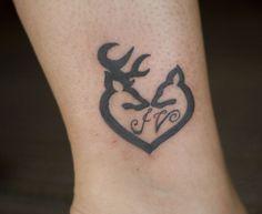... buck... I'm ready for deer season. (buck doe deer couples tattoo) More