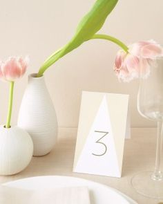 DIY Wedding Table Cards and Templates