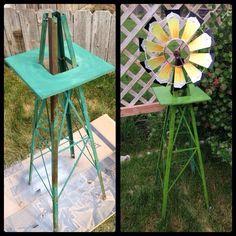 DIY Outdoor Windmill | Via Chelsy Bloomfield