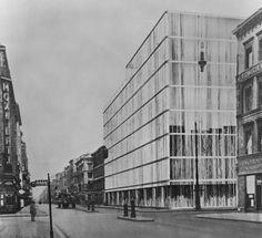 MIES VAN DER ROHE - ENTWURF FÜR DAS GECHÄFTSHAUS ADAM, BERLIN  1928