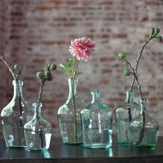 Beautiful Glass Vase with a hint of springtime blue to it. Glass has a vintage style that brings charm to any space. place stems of fresh springs flowers or simply set a couple of them together for a Aqua Glass, Glass Vase, Flower Vases, Flower Art, Flower Pattern Drawing, Flower Girl Basket, Flower Girls, Crystal Wall, Vintage Bottles