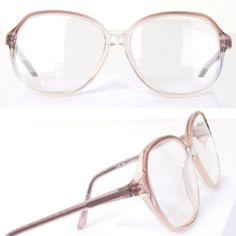 Vtg-80s-90s-LARGE-OVERSIZED-GLASSES-Big-Eyeglasses-Frame-PINK-BLUE-ITALY-Womens