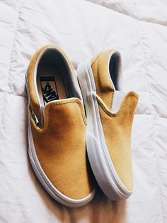 cb64973e5529ca These might be my next pair of spring shoes! Yellow Slip On Vans