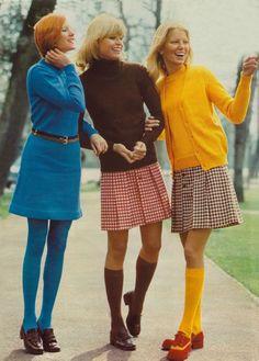 1970 Les chaussettes hautes étaient à la mode....... j'adorais