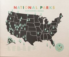 Illustrated by ello there seen on vlinspiratie.blogspot.com #nationalparks