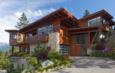 Exclusive mountain chalet in Whistler Canada Sweeping Mountain & Lake Views: Modern Chalet Architecture in Canada