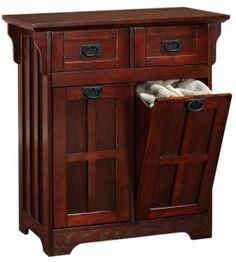 Craftsman Bathroom Vanities and Cabinet | Craftsman Tilt-Out Clothes Laundry Hamper with 2 Drawers 2-drawer ...