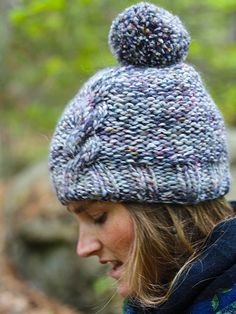 NobleKnits.com - Berroco Mojo Janis Cable Hat Knitting Pattern