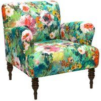Floral Chair from Sofas & Chairs by Skyline Furniture on Gilt Furniture Logo, Black Furniture, Upholstered Furniture, Unique Furniture, Furniture Deals, Furniture Makeover, Furniture Design, Rustic Furniture, Geometric Furniture