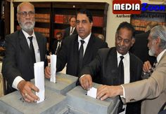 Mediazoon: The polling process continues for the Supreme Court Association elections, in which 44 candidates are contesting on 22 seats.