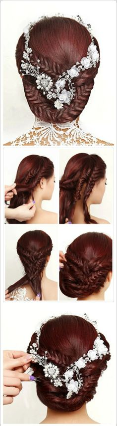 Hair styles for long hair hairstyles. Re-pin if you like. Via Inweddingdress.com #hairstyles