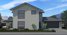 This impressive two-story home features plenty of living space for a growing family. A separate lounge is next to the open plan kitchen/dining/living. Open Plan Kitchen Dining, Kitchen Dining Living, Storey Homes, Two Story Homes, Living Spaces, House Plans, Shed, Lounge, Outdoor Structures