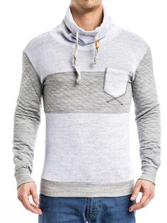 Great 2 tone turtle / mock neck neck sweater w/a front pocket IMPORTANT: PLEASE USE THE SIZE CHART TO PICK THE CORRECT SIZE FOR YOU. -HIGH QUALITY MATERIAL (POLY) -BODY / SLIM FIT FITTED