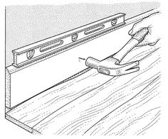 Norm Abram shares the secret to getting baseboards to match up along uneven floors. See his trick for scribing to match your wood to the contours of the floor with just a pencil and a piece of wood.