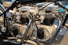 OldMotoDude: 1970's BSA Double Engine Drag Bike on display at the Barber Vintage Motorsports Museum -- Birmingham, Al.