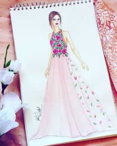Ideas fashion portfolio folder posts for 2019 Dress Design Drawing, Dress Design Sketches, Fashion Design Sketchbook, Dress Drawing, Fashion Design Drawings, Fashion Drawing Dresses, Fashion Illustration Dresses, Fashion Dresses, Drawing Fashion