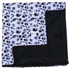 Soccer Double Minky Baby Blanket, Baby Gift, Soccer Toddler Bedding, Crib Bedding Throw Blanket, Stroller Blanket, Travel Blanket #kemaily Pin now view later