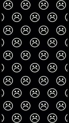 43 Ideas For Wallpaper Preto Tela De Bloqueio Sad Pop Art Wallpaper, Iphone Background Wallpaper, Emoji Wallpaper, Trendy Wallpaper, Black Wallpaper, Cute Wallpapers, Wallpaper Ideas, Iphone Wallpaper Tumblr Aesthetic, Tumblr Wallpaper