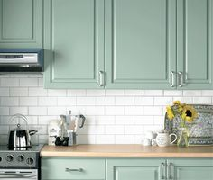 mint green kitchen cabinets - perfect for my dream laundry room