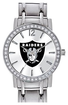 Women's Game Time Watches 'NFL All Star - Oakland Raiders' Crystal Bezel Bracelet Watch