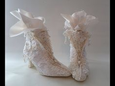 Shabby chic lace shoe makeover