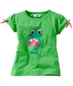 Tricouri ieftine: Tricou fete verde cu bulinute BPC