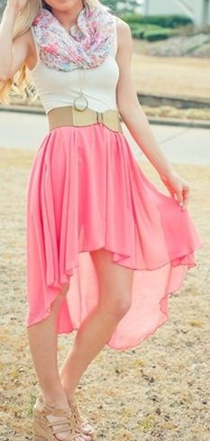 Swallowtail Pink Skirt. would look better without the scarf, but still super cute!