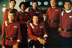 The Original Cast (Stock Photo) on the set of 'Star Trek II - The Wrath of Kahn)