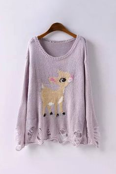 Bambi sweater! So cute. - Repin and Get $50 Coupon!!!